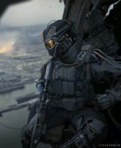 Best Futuristic Armor - ideas and images on Bing Futuristic Armour, Futuristic Art, Futuristic Helmet, Armor Concept, Concept Art, Cyberpunk Character, Sci Fi Armor, Future Soldier, Suit Of Armor