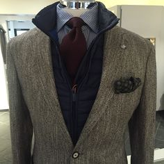 Tagliatore jacket, Swims vest, Skabo Collection shirt & tie and Drake's PS