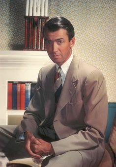 James Maitland Stewart (b. 5/20/1908–7/2/1997 in Indiana, Pennsylvania) was a well loved American film & stage actor, known for his distinctive voice & persona. Good friend of Henry Fonda.  He also had a noted military career & was a WWII & Cold War veteran, who rose to the rank of Brigadier General in the US Air Force Reserve.  Married model Gloria McLean (adopted her 2 sons).They had twin daughters. The couple remained married until her death from lung cancer in 1994, at the age of 75.