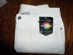 "JEANOLOGY WOMEN COLLECTION WHITE JEAN SIZE 14/INSEAM 32""  - BRAND NEW WITH TAGS #Jeanology #BootCut"