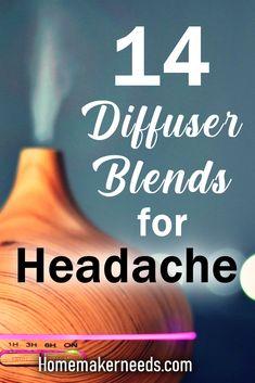 14 Diffuser Blends For Headache! Learn 14 diffuser blends for headache. Migraine Essential Oil Blend, Essential Oils For Migraines, Oils For Sinus, Stress Relief Essential Oils, Essential Oils For Babies, Essential Oil Diffuser Blends, Doterra, Allergies, Oil For Headache