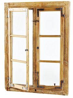spiegel spiegel aus altem holzfenster mit halbbogen ein designerst ck von antik goes modern. Black Bedroom Furniture Sets. Home Design Ideas