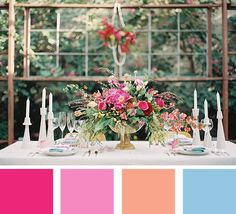 July is All About Color month here at mywedding and we love these bright summer wedding color palettes!
