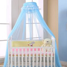 Crib Netting Lovely Baby Room Crib Netting Kids Dome Hanging Bed Mosquito Net Children Summer Anti Pest Round Modern Tent Crib Netting