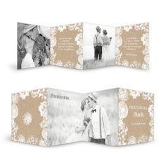 Moderne, florale Danksagungkarte zur Hochzeit - Kraftpapier