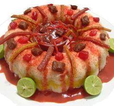 Rosca de Jicama, Zanahoria y Pepino