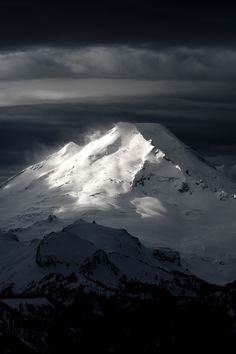 Mount Baker (glaciated volcano), North Cascades National Park, Washington.  Photo: Jason Hummel via 500px
