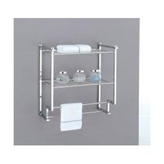 Organize It All Metro 2 Tier Wall Mounting Rack with Towel Bars
