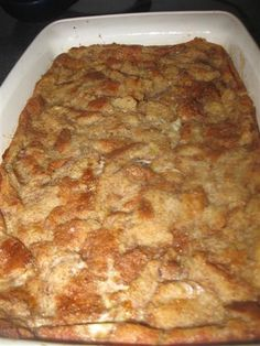 Bread Pudding. We have a family tradition of making this every Christmas Eve. My husband looks forward to it all year!