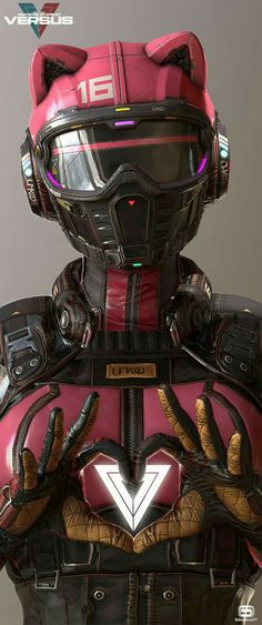 VERSUS, quick update, Gerard Kravchuk - cyberpunk catwoman robotic android concept art character design inspiration ideasParticipant of CGTrader Awards Robot Concept Art, Armor Concept, Catwoman, Techno Wallpaper, Cyberpunk Kunst, Character Concept, Character Art, Futuristic Helmet, Android Art