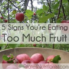 5 Signs You're Eating Too Much Fruit – Pilates Nutritionist