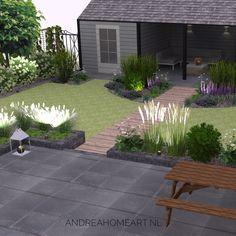 Garden Design Plans, Garden Makeover, Artificial Turf, Outside Living, Garden Projects, Garden Inspiration, Backyard Landscaping, Shrubs, Home Art