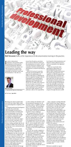 Bob Newsome - Leading the way - The Dentist, June 2014 (62-64)