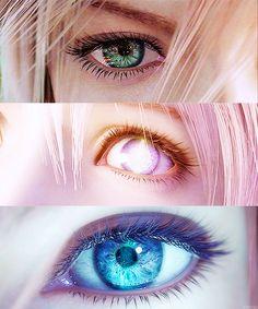 Lightning , Lumina und Serah.. wie ich diese Augen einfach nur schön finde... #Mordimort