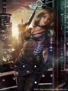 The Ships Lieutenant by keelerleah.★ We recommend Gift Shop: http://gosstudio.com ★ #Cyberpunk #Art #gosstudio