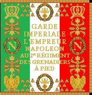 Bandiera del 2 rgt. granatieri della guardia imperiale del Regno d'Italia
