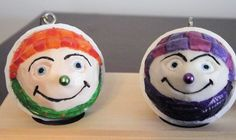 nummy and kold ornaments: carved by kevin patch
