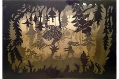 """The Path Lay Hidden, 2013, Hand-cut and stitched tunnel book, 12""""x8.5""""x8.5""""."""
