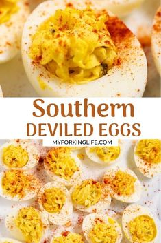 These Southern deviled eggs are the best ever! Made with sweet relish and jalapenos, they are easy to make and a perfect appetizer to feed a crowd.