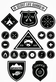 DIY Downloadable Scout Badges - links to French blog Do It Yvette