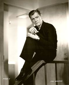 Portrait in black, probably late Earl Holliman, Supporting Actor, Navy Veteran, Star Fashion, 1950s, Singer, Actors, Portrait, Tv