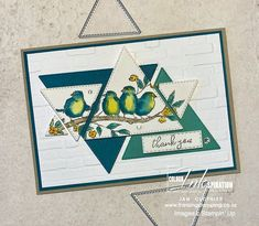 Triangles, 3d Christmas, Bird Cards, Fathers Day Cards, Watercolor Cards, My Stamp, Free Coloring, Stampin Up Cards, Thank You Cards