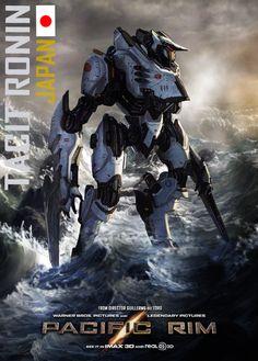 Pacific Rim - Tacit Ronin by minanfranco on deviantART Ronin Japan, Gta 5, Pacific Rim Jaeger, Legendary Pictures, Arte Robot, Armadura Medieval, Sci Fi Armor, Mundo Comic, Neon Genesis Evangelion