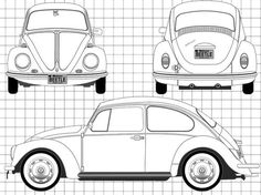 beetle car | ... .com - Blueprints > Cars > Volkswagen > Volkswagen Beetle 1200 (1968 #VWBeetle Volkswagen Transporter T2, Car Volkswagen, Vw Camper, Volkswagen Beetle Vintage, Mini Cooper S, Beetle Drawing, Ford Mustang Shelby Gt500, Beetle Car, Car Drawings