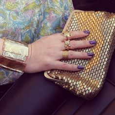 Vintage gold rings and clutch, styling by La Clotherie Consulting.
