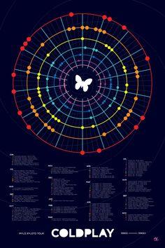 Coldplay Mylo Xyloto Tour Calendar  2011 • 2012 by Matthew Lew, via Behance