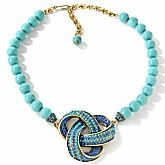 "Heidi Daus ""Forget Me Knot"" Crystal-Accented Beaded Necklace"