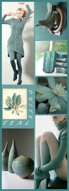 '' Dusty Teal '' by Reyhan S.D.