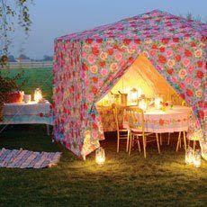 Who says you can't camp in style! Cath Kidston outdoor tents...