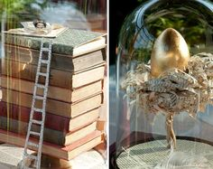 Book art with The Princess & the Pea and a golden egg (which could be from a number of tales)