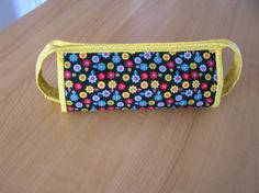 Cosmetic bag with three internal zippered pockets,super usefull by AlexCraftsStore on Etsy