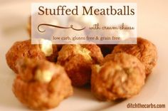 Oh my word. Try this easy recipe for cream cheese stuffed meatballs. Low carb…