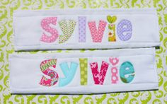 SET OF TWO, Personalized Burpcloths, Made To Order...Sweet gift for new mom and baby by NewlyHatchedBaby on Etsy https://www.etsy.com/listing/167230498/set-of-two-personalized-burpcloths-made