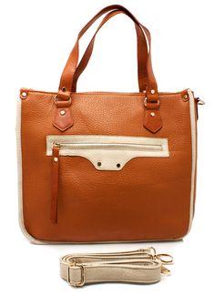 two-tone textured leather handbag $52.90