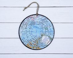 Holiday Christmas Ornament gift for traveler Vintage map Ornament guy gift unique ornament map gift gifts under 20 Paris France