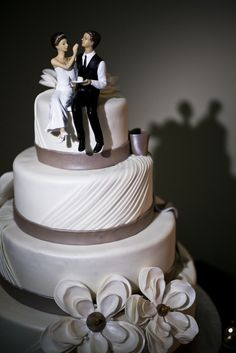 Silver & White #Wedding Cake