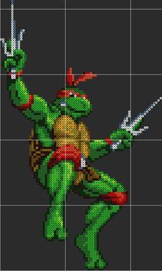 Raphael TMNT Perler Sprite Pattern Template by D1A13LO on DeviantArt