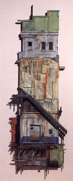Astoria ,  painted wood and metal construction,   by Michael C. McMillen 1987
