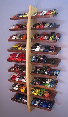 Cute way to store hot wheels.