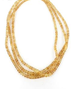 """IMPERIAL TOPAZ BEADS GRADUATED RONDELLE 3.5-7 16"""""""