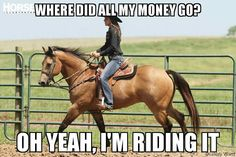 I'm broke but my horse is happy