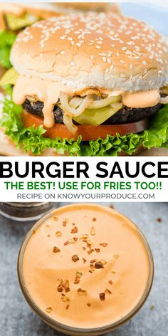 the best burger sauce use as a fry sauce, for sandwiches, tater tots, nuggets and more!