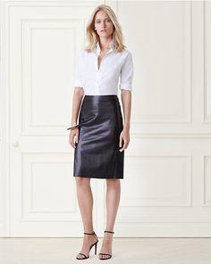 Cindy Lambskin Pencil Skirt