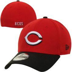cccbcfda6db Men s Cincinnati Reds New Era Red Black MLB Team Classic Road 39THIRTY Flex  Hat