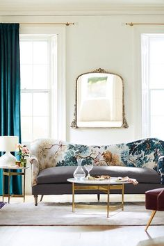 Looking for a stylish way to usher some Art Deco vibes into your home? Curtains are a great place to start. From black velvet drapes to geometric printed ones and more, here are 10 glamorous art deco curtain ideas to dress up your space in a pinch. Art Deco Curtains, Home Curtains, Teal Curtains, Farmhouse Vases, Velvet Drapes, Hanging Furniture, Entryway Console, Glass Fit, Wood Mirror