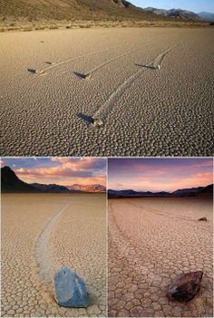 The amazing moving rocks in Death Valley